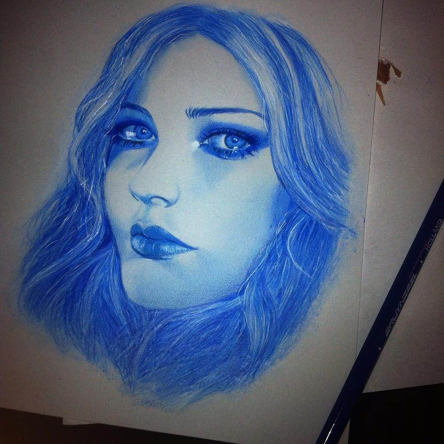Avril Lavigne In Blue Color SKETCH By Aeriz85 On DeviantArt