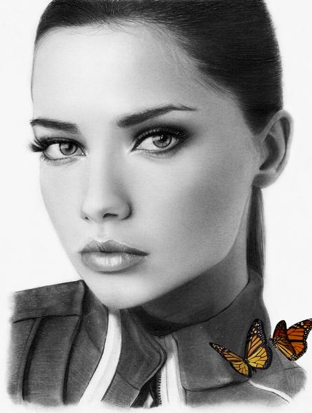 Adriana Lima (PENCIL Portrait) by Aeriz85