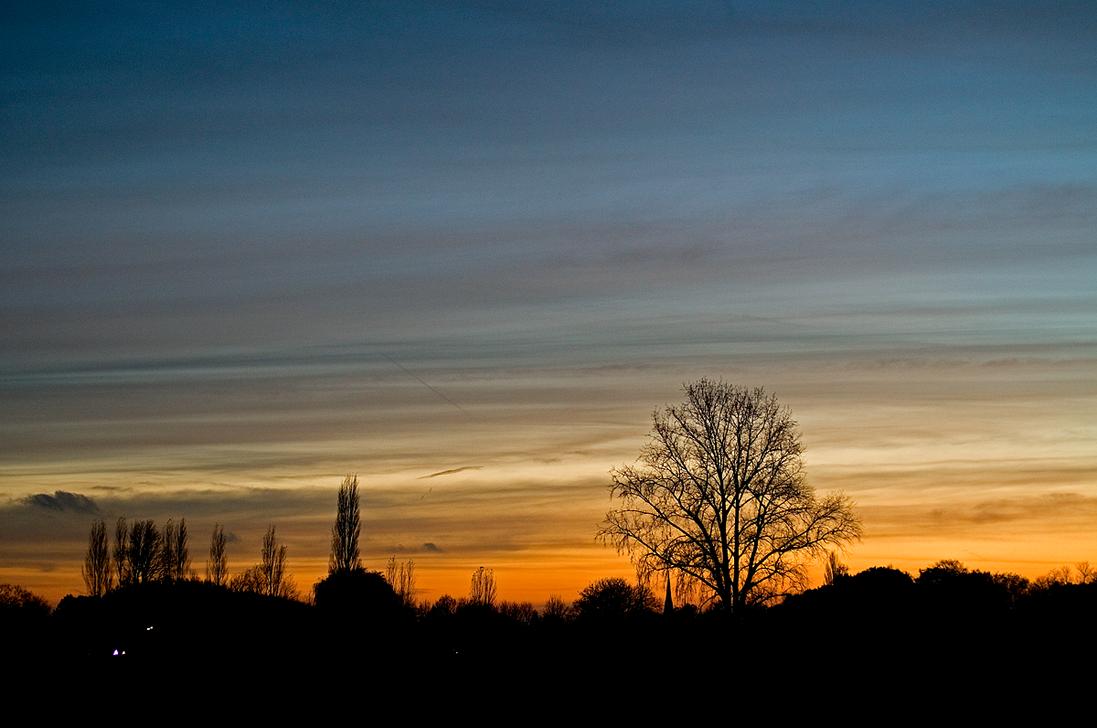 November Sunset by sandervandenberg
