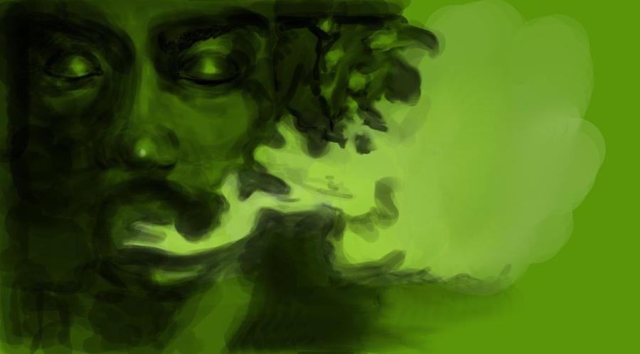 weed smoke art wallpaper - photo #8