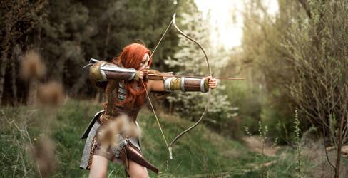 Happy Hunting- Aela the Huntress