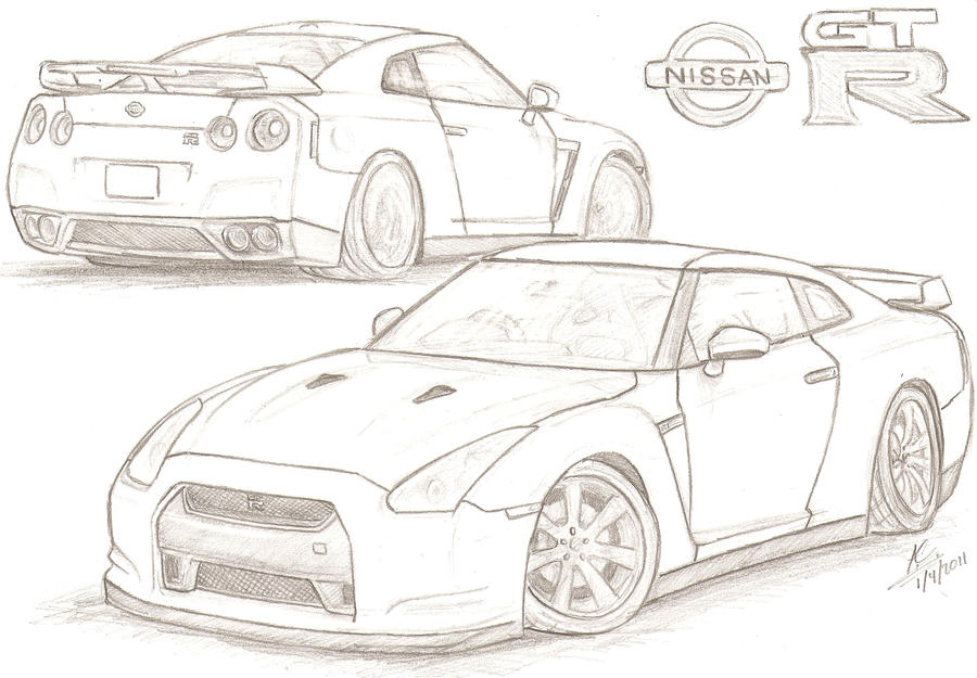 Line Drawing Nissan Gtr : Nissan gt r by tougedrifting on deviantart