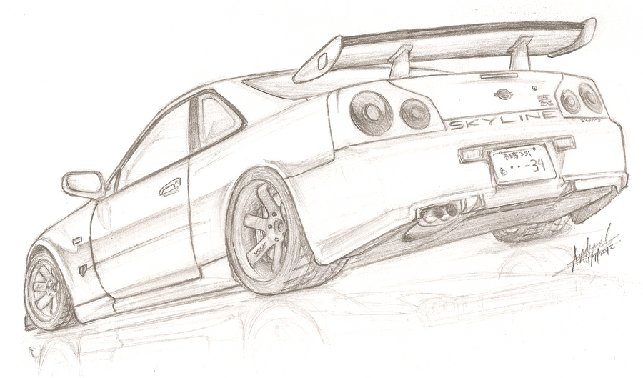 Nissan Skyline R34 GT R V Spec II By TougeDrifting85 On