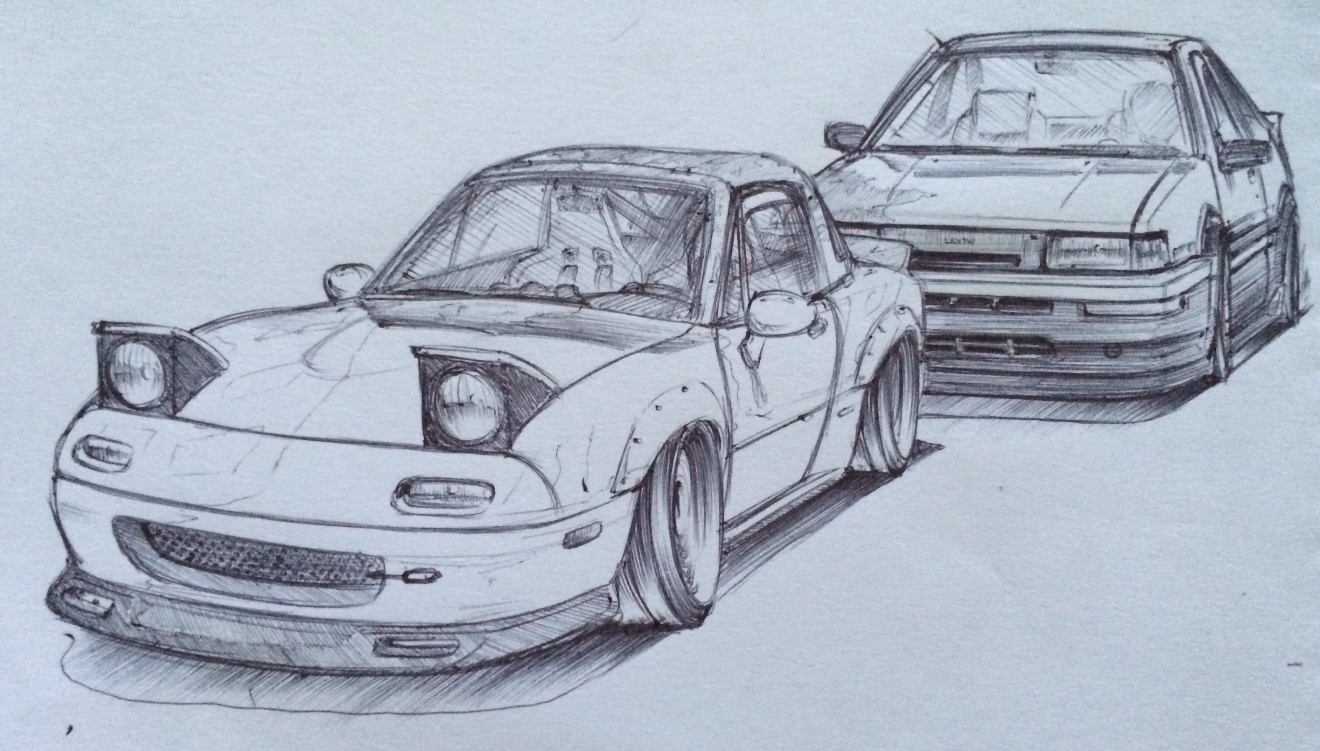 Sketch Miata Vs Levin Wip By Tougedrifting85 On Deviantart