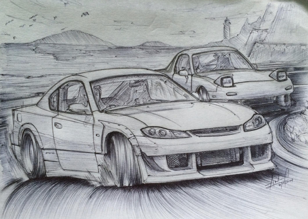 Image Gallery Of Drift Car Drawings