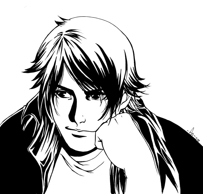 Guy black and white lineart by flo moshi on deviantart for How to draw flo