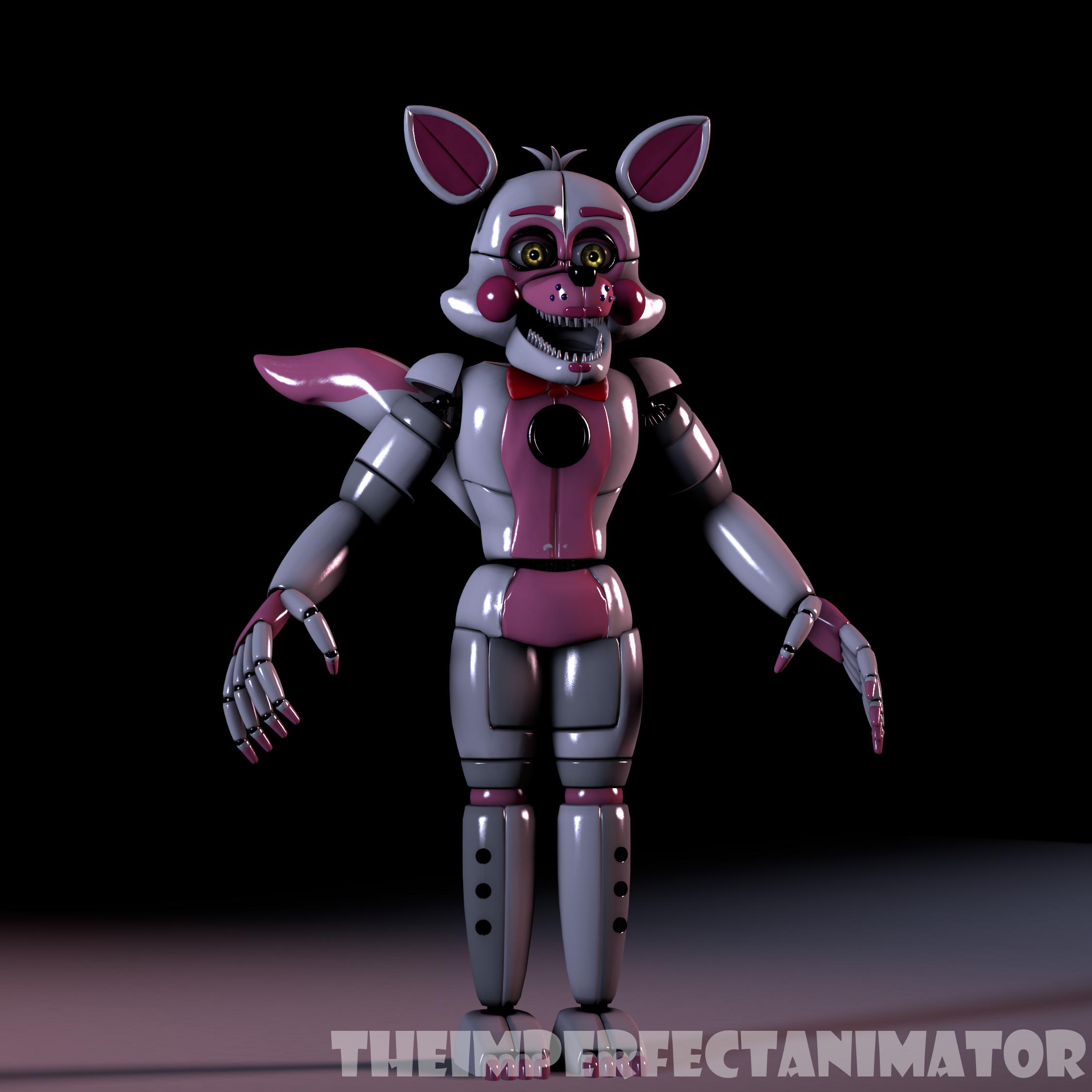 FNAF:SL Extras Menu Funtime Foxy By TheImperfectAnimator
