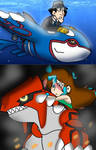 riding on Kyogre and groudon by gadgetgirl101