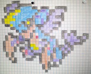 Mega garchomp pixels by gadgetgirl101