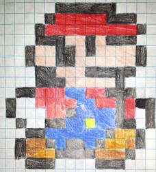 Pixel mario by gadgetgirl101