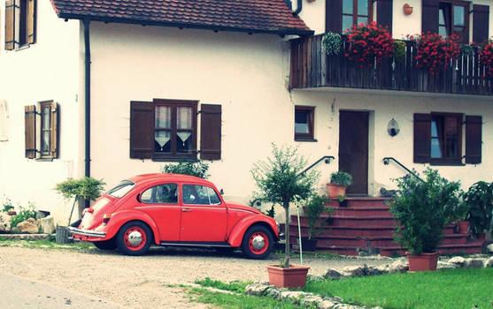 la rojo coche