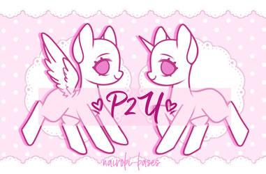 P2U cute pony base! by Nairobi-bases
