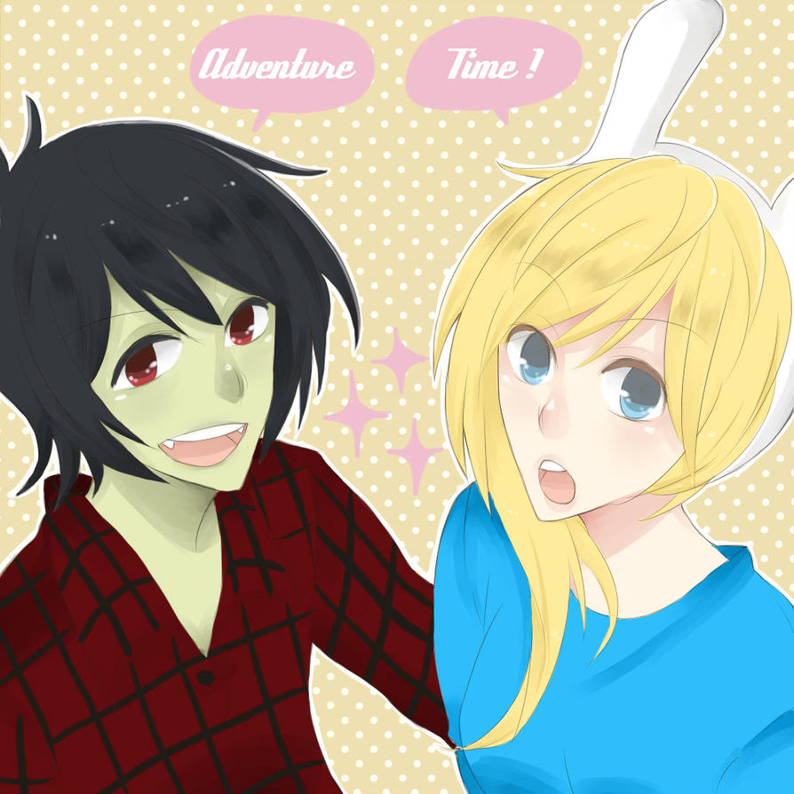 Adventure Time Fionna And Marshal Lee Anime