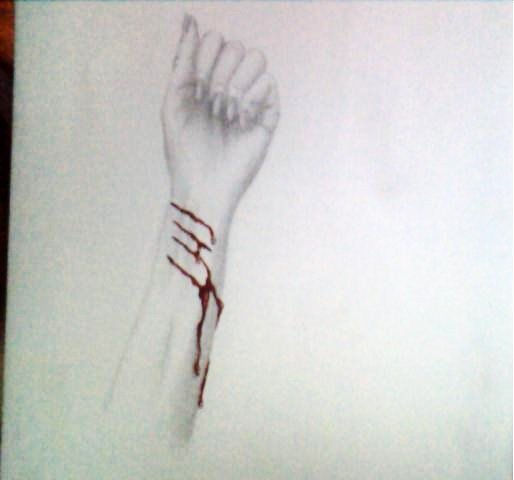 Bleeding arm by marilynmansonDK on DeviantArt
