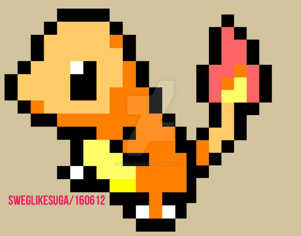 Pixel art templates pokemon charmander pokemon charmander pixel art by sweglikesuga on deviantart maxwellsz