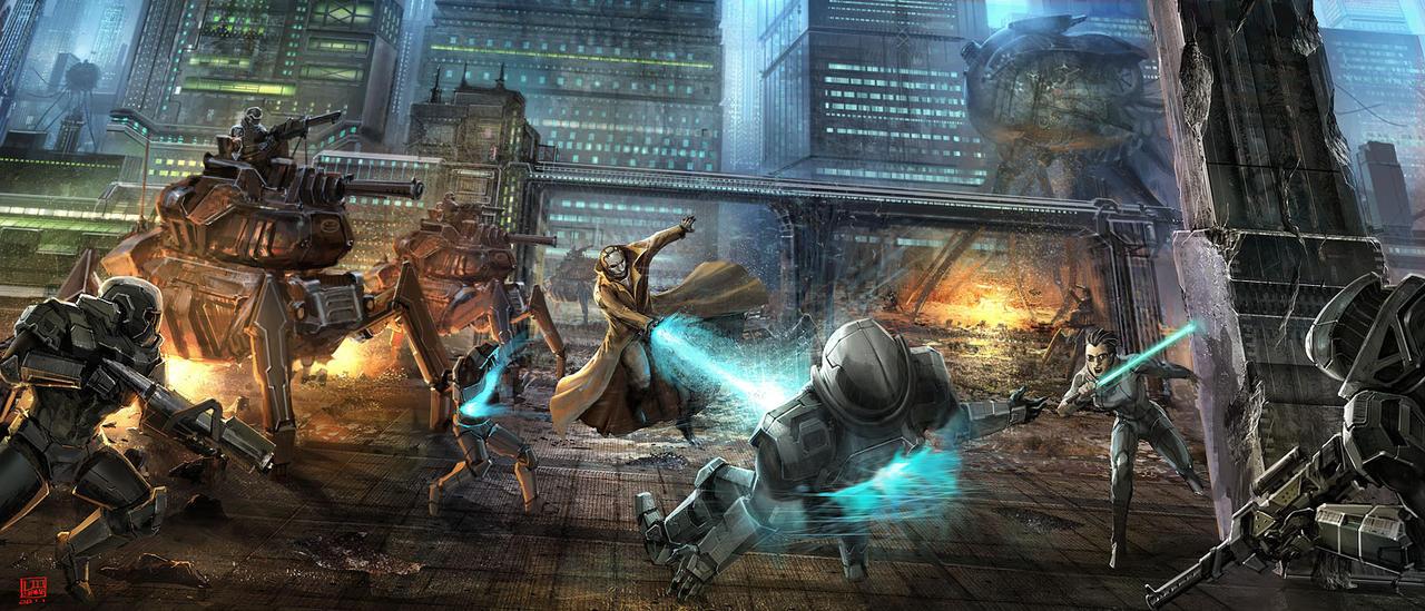 fight by liuyangart