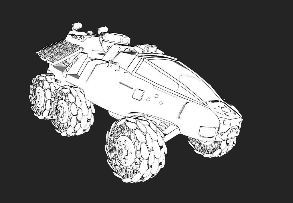 desert vehicle concept sketch by liuyangart