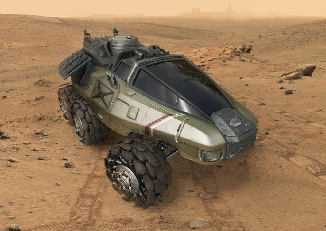 desert vehicle by liuyangart