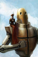 girl n' big robot by liuyangart