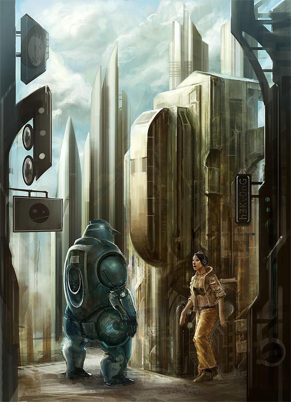 bluebot by liuyangart