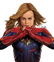 Captain Marvel by Fede88art