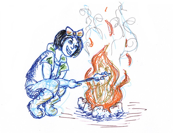 Roasted - Aveyond inktober by Mu11berry