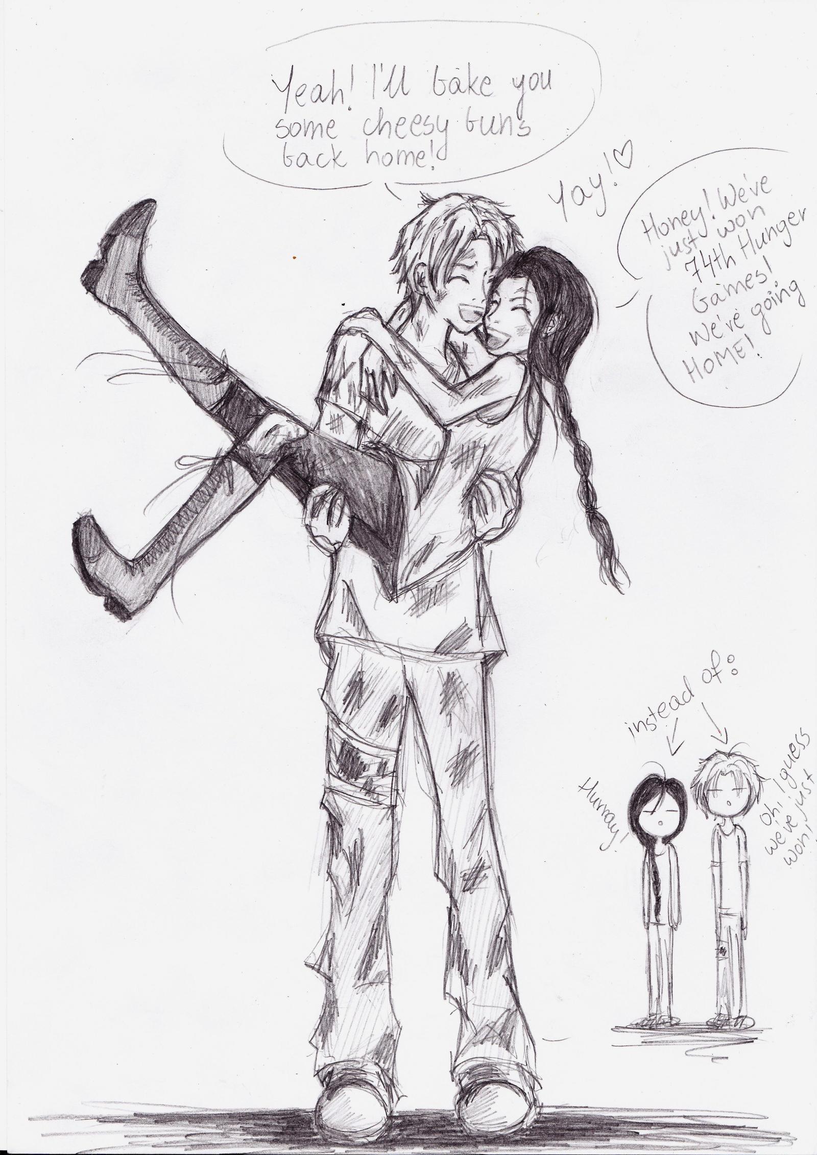 Peeta And Katniss Catching Fire Fan Art