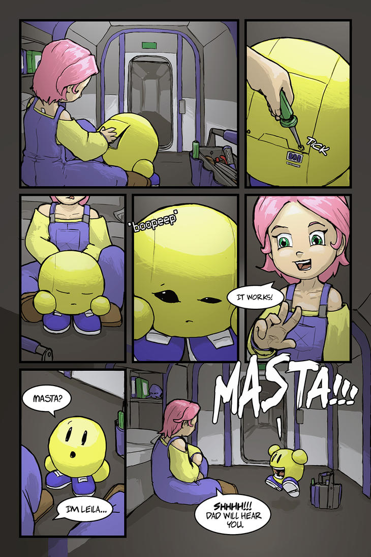 A Girl and Her Droid Page 2 by LordJay