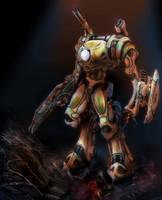 Katinian Battle Suit on Bathos by LordJay
