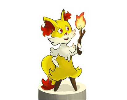 Just evolved Braixen by akelliona