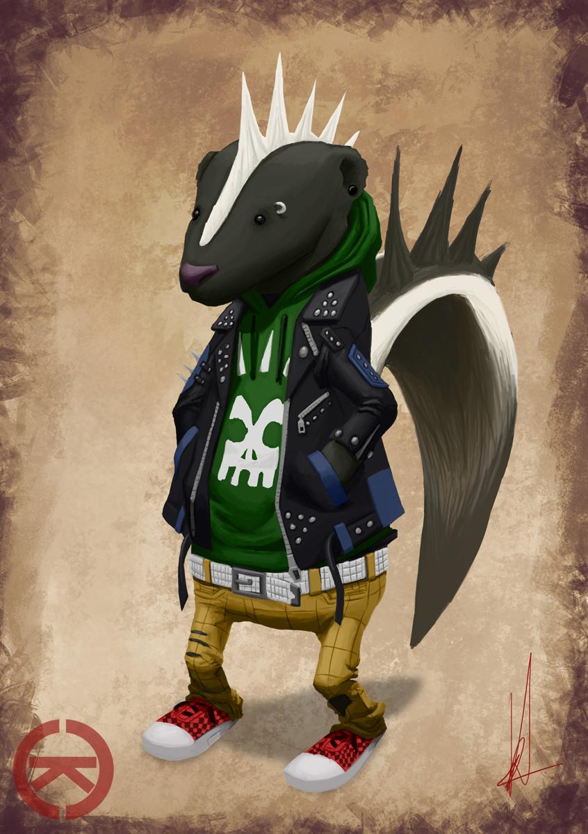 Punk Skunk by renegade21
