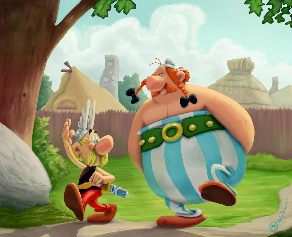 Asterix and Obelix by renegade21