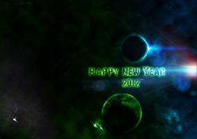 Planetary Flare Happy New Year by drkzin