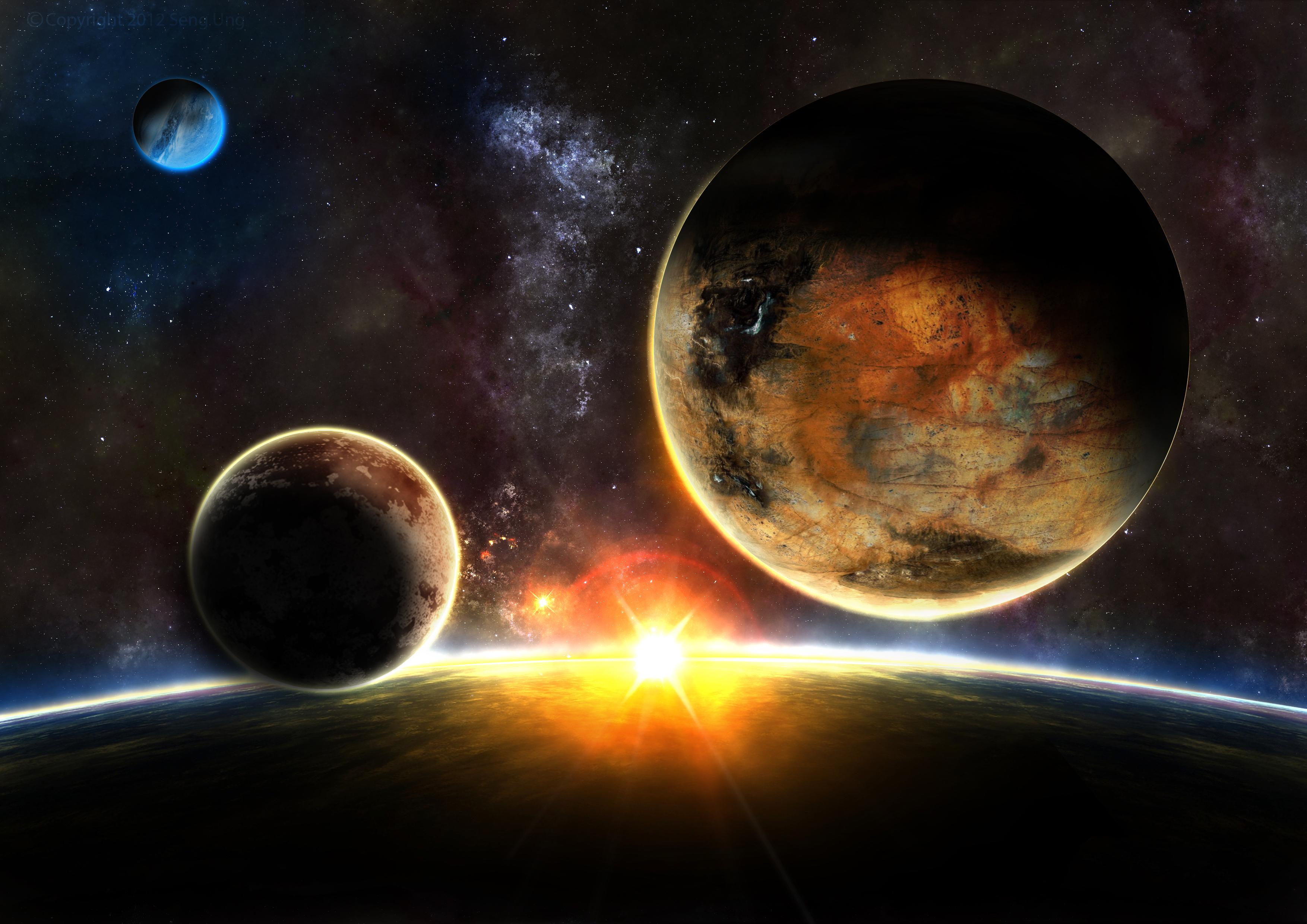 Earth Sunrise - Warmth by drkzin