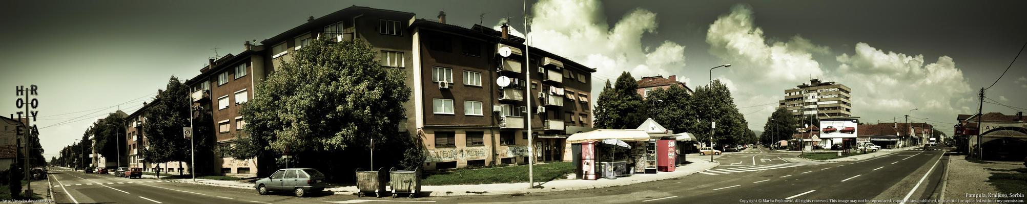 Kraljevo Pampula panorama by Mavko