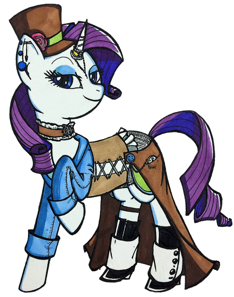 Steampunk Rarity by strategossix