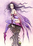 Purple fairy ACEO