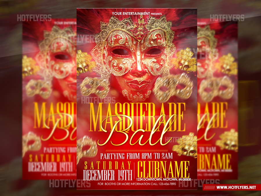 masquerade ball psd flyer template by hotflyers
