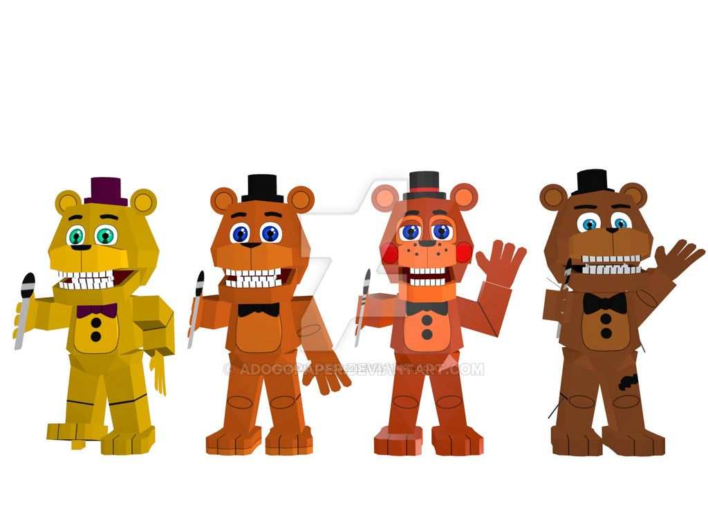 fnaf world papercraft wip by adogopaper old by azamatasd402 on