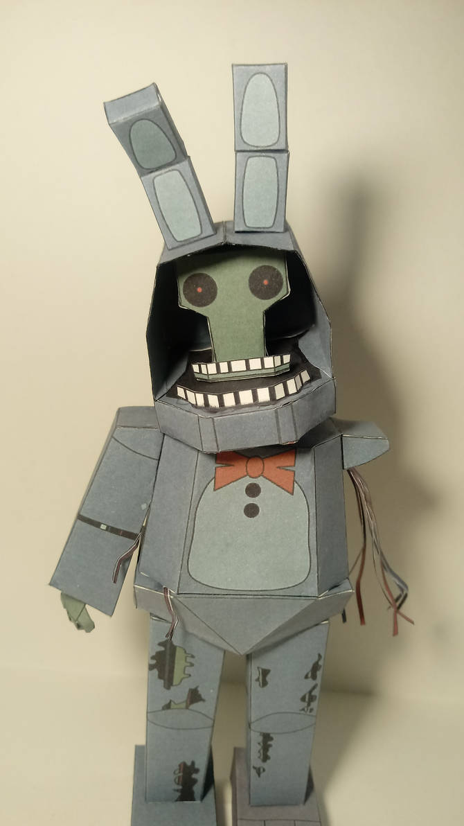 FnaF2: Withered Bonnie papercraft by azamatasd402 on DeviantArt