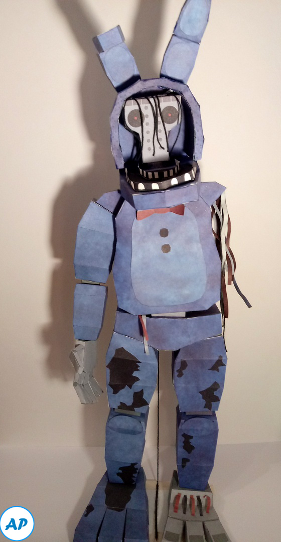 Withered Bonnie papercraft by azamatasd402 on DeviantArt