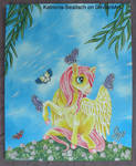 Butterfly Pegasus Painting