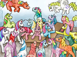 unboxing ponies -- welcome to the herd by Katriona-Seallach