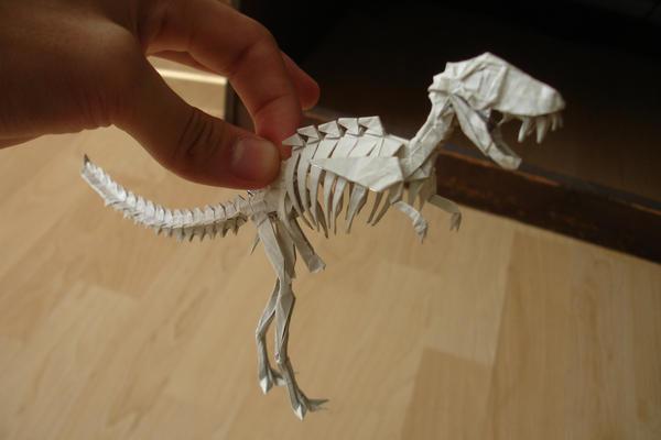 origami rex skeleton tyrannosaurus 171 embroidery amp origami