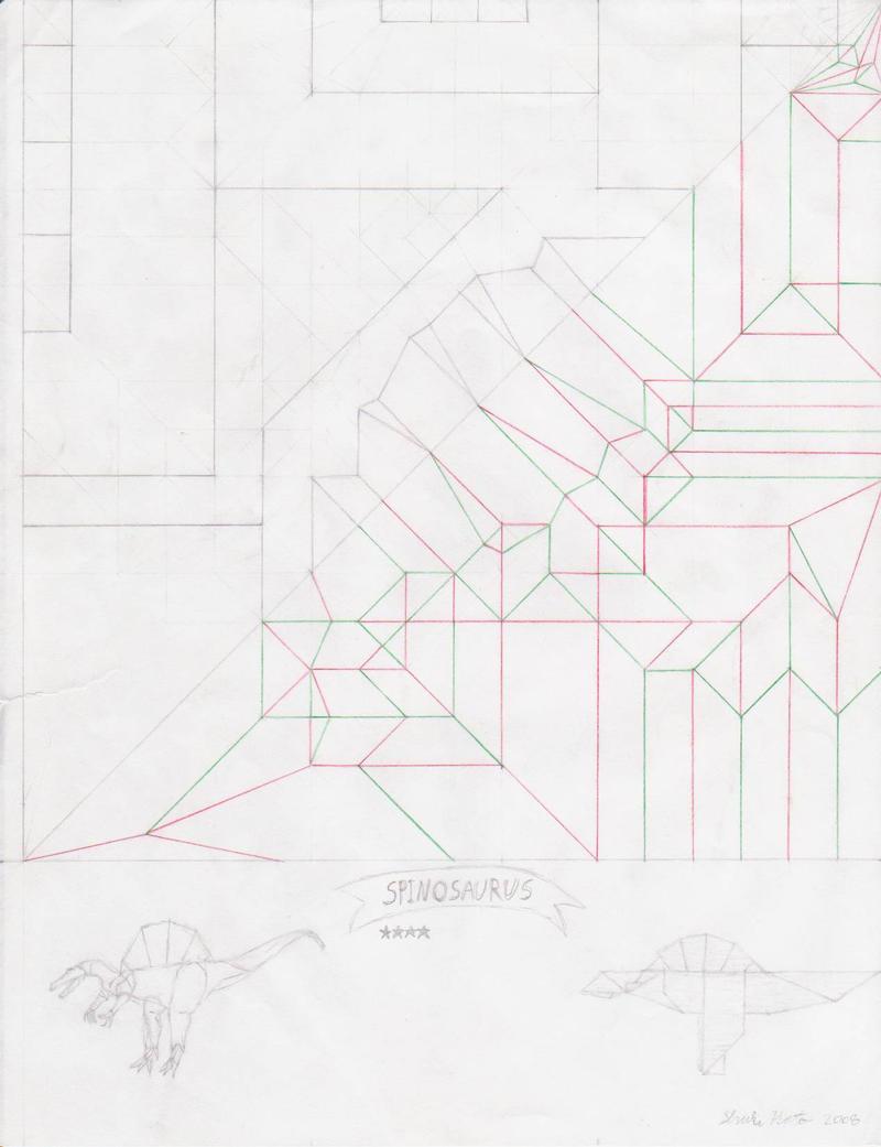 Spinosaurus crease pattern