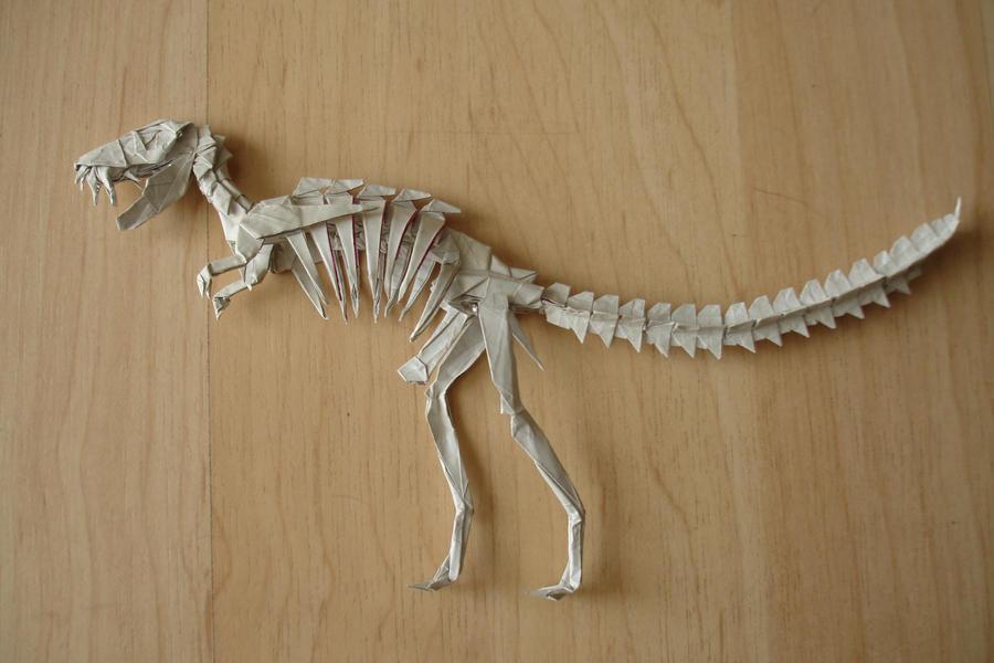 Tyrannosaurus Skeleton2 By Origami Artist Galen