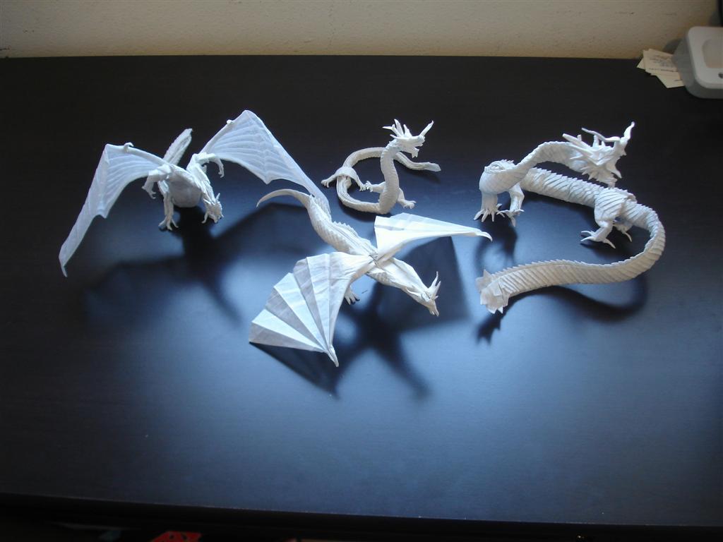 Mega Complex Origami Dragons By Artist Galen