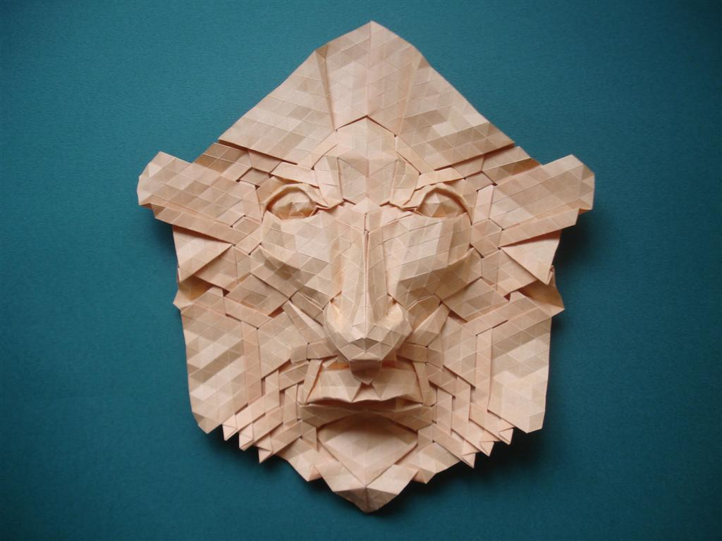 Origami Tesselated Mask by origami-artist-galen