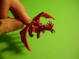 Tiny Ancient Dragon-Kamiya by origami-artist-galen