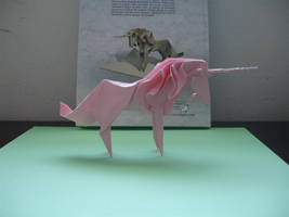 Origami Unicorn Tant2 by origami-artist-galen